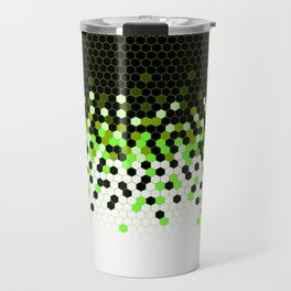 Flat Tech Camouflage Reverse Green Travel Mug