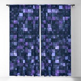 Blue Squares Blackout Curtain