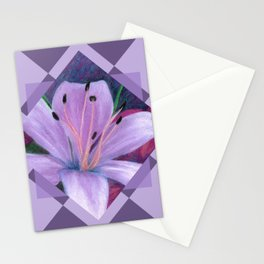 Lavenders and Diamonds Stationery Cards