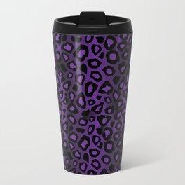 Deep Purple Leopard Skin Pattern Travel Mug