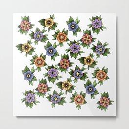 traditional flowers Metal Print