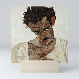 "Egon Schiele ""Self-Portrait with Lowered Head"" Mini Art Print"