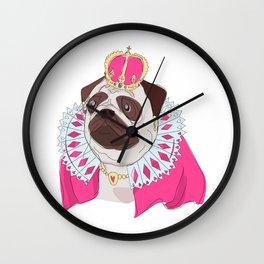 The Royal Pug Queen Wall Clock