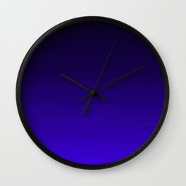 Deep Dark Indigo Ombre Wall Clock