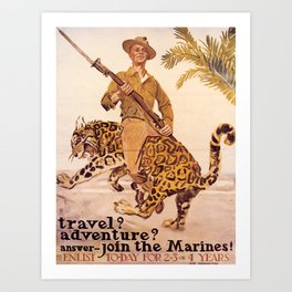 Vintage poster - Join the Marines! Art Print