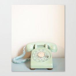 Vintage Mint Phone Canvas Print