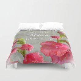 Pink Gladiolus - Mum Duvet Cover