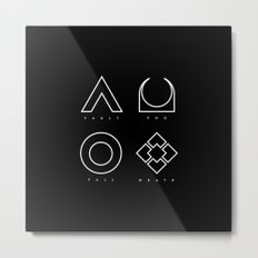 PAUSE – RAID Metal Print