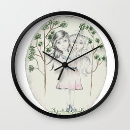 Freakshow Grils Wall Clock