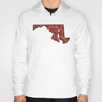 maryland Hoodies featuring Maryland Paisley Illustration by Adrienne S. Price