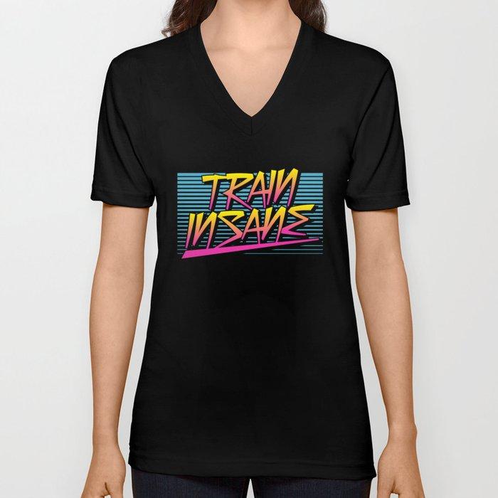 Train Insane Retro Unisex V-Neck