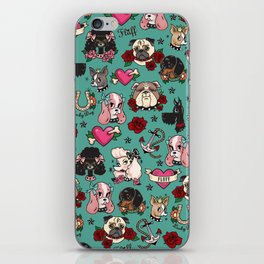 Tattoo Dogs iPhone Skin