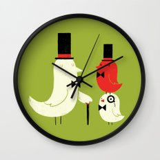 Posh Birds Wall Clock