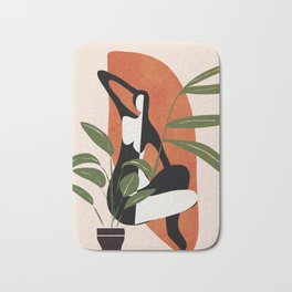 Abstract Female Figure 20 Bath Mat