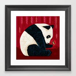 The Panda and the Butterfly Framed Art Print