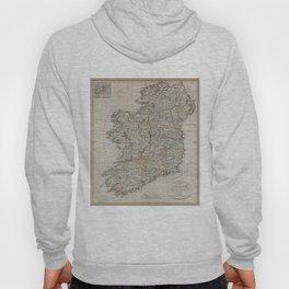 Vintage Map of Ireland (1804) Hoody