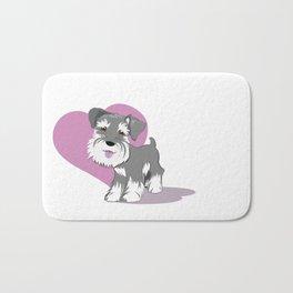 Miniature Schnauzer Puppy Dog Adorable Baby Love Bath Mat