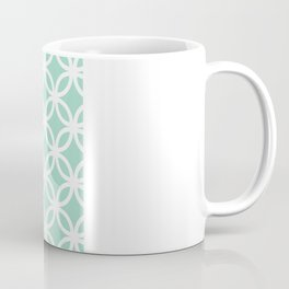 Mint Geometric Circles Coffee Mug