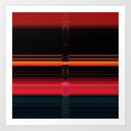 Bright Red Stripes with a Twist Art Print