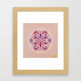 Mandala no.4 Red & Purple Framed Art Print