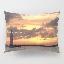 Key West sailing into Sunset Pillow Sham