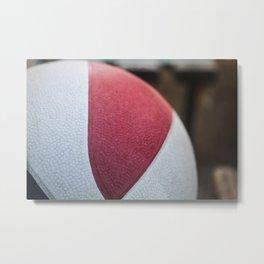 Basket Ball Metal Print