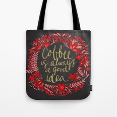 Coffee on Charcoal Tote Bag