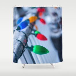 Christmas Decorations Photography Print Shower Curtain