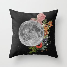 .Stuck Behind the Moon. Throw Pillow