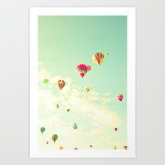 Reaching The Clouds Art Print