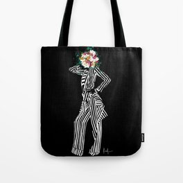 Stripes & Flowers Tote Bag