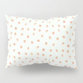 Sweet Peach Polka Dot, Mint Pillow Sham
