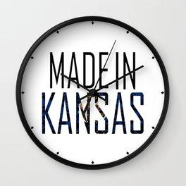 Made In Kansas Wall Clock