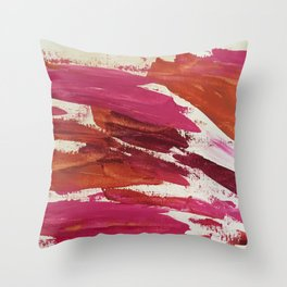 Pink Scrape Throw Pillow