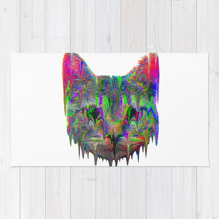 Psychedelic Cat Rug