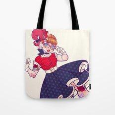 Rockabilly Futakuchi Peggy Tote Bag