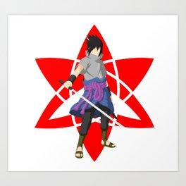 ninja anime Art Print