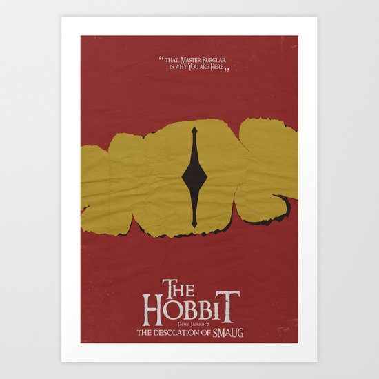 The Hobbit - the Desolation of Smaug - Minimal Movie Poster Art Print