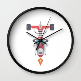 """Creative Drive - """"Typography motorcycle"""" Wall Clock"""