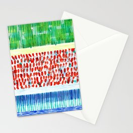Joyful Stacked Patterns in High Format Stationery Cards