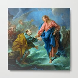 "François Boucher ""St. Peter Invited to Walk on the Water"" Metal Print"