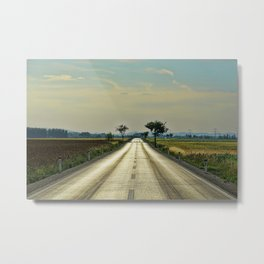Straight road Metal Print