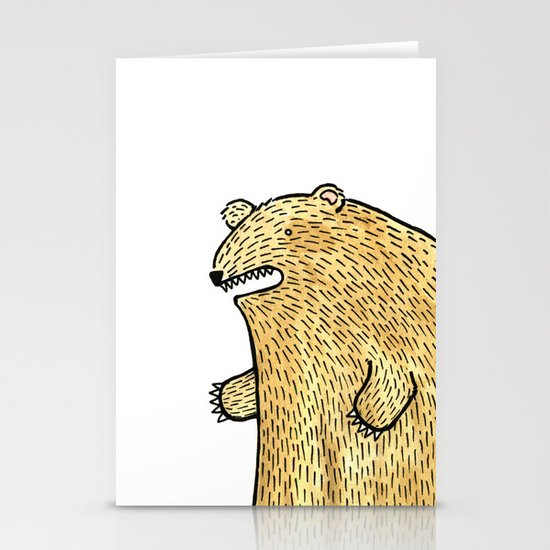 humble bear Stationery Cards
