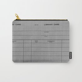 Library Card BSS 28 Gray Carry-All Pouch