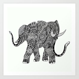 Snakelephant Indian Ink Hand Draw Art Print