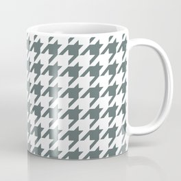 Grey, Steel: Houndstooth Checkered Pattern Coffee Mug