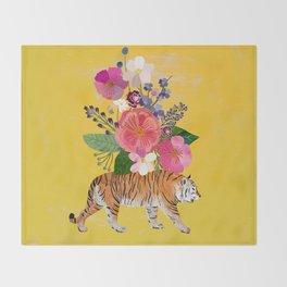 Tiger Bloom Throw Blanket