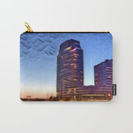 Downtown Grand Rapids City Scene (River with Lights) Carry-All Pouch
