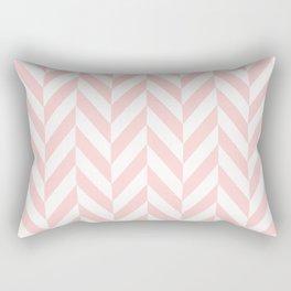 light coral herringbone Rectangular Pillow