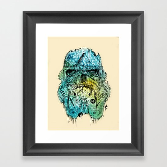 Storm Zombie Framed Art Print
